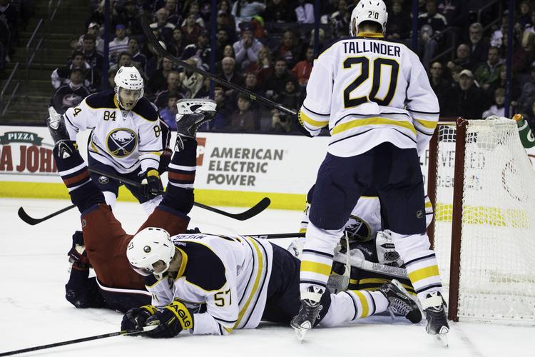 The Buffalo Sabres upended the Columbus Blue Jackets on Saturday, ending the team's eight-game winning streak. Click on the following images for more photos from the game.