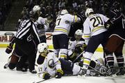 OK, one more: The Buffalo Sabres built a wall around goalie Ryan Miller on Saturday, ending the Columbus Blue Jackets' eight-game winning streak.