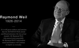 Raymond Weil, one of the innovators of the Swiss watch industry, has died.