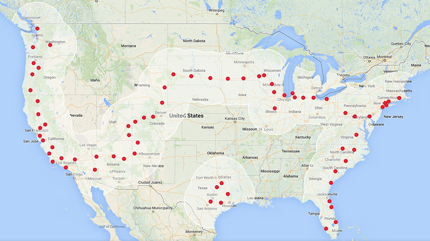 Charging Station Map >> Tesla charging stations go coast-to-coast but Texas is an ...