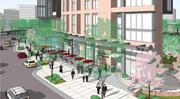 Greensboro Park Place will include less than 2,000 square feet of retail, perhaps a cafe, as this rendering suggests.