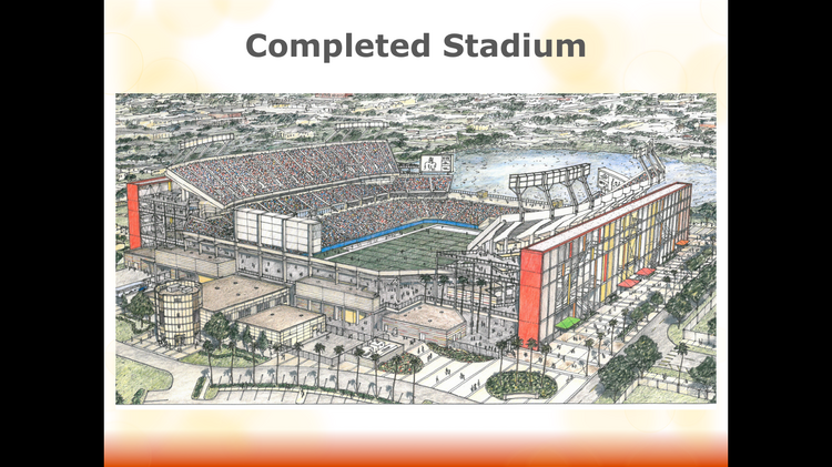 Projects like the new Florida Citrus Bowl stadium renovations currently have a claim on all of Orange County's excess tourist development taxes.