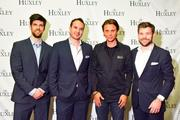 Television reality star Jonathan Cheban hosted a night at The Huxley on Jan. 17. From left, Huxley owners Logan West, Eric Lund, reality star Jonathan Cheban and Ryan Seelbach.