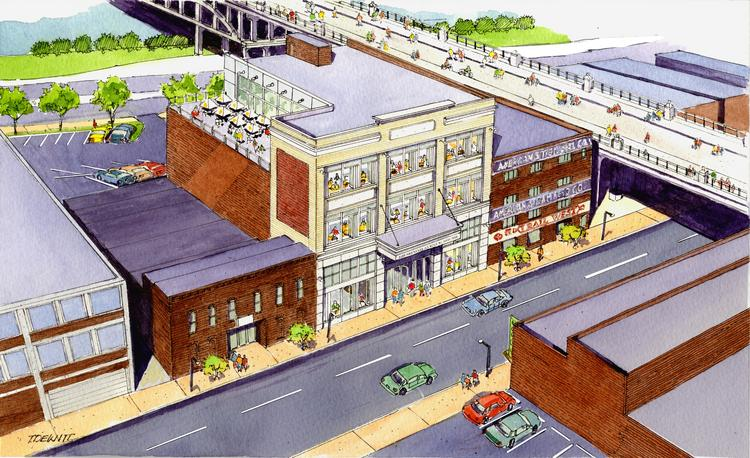 A rendering of C.B. Ragland Co.'s planned development at 120 Second Ave. S.