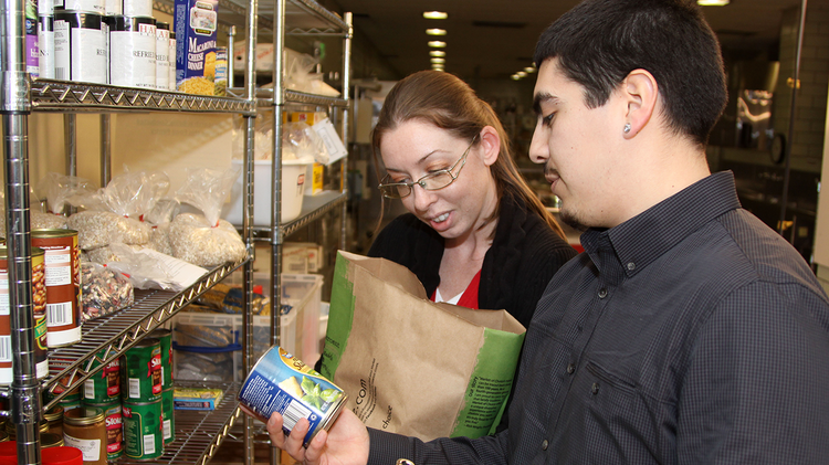 Food banks, such as this one at Oregon State University, benefit from donations by businesses that receive a tax deduction for food inventory contributions.