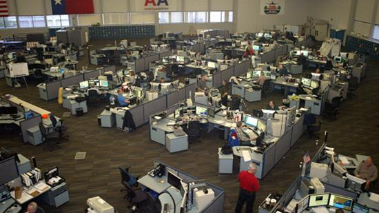 A photo of American Airlines' current System Operations Center in Fort Worth. The airline announced Wednesday that it will break ground on a new center in the next 30 days.