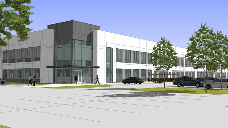 Rendering of the Airgas office, distribution center in the Germantown Business Park.