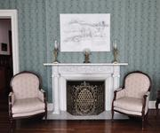 The sitting room in the president's mansion.