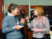 Ned Sokoloff of Specialty Group and Betsy Benson of Pittsburgh Magazine.