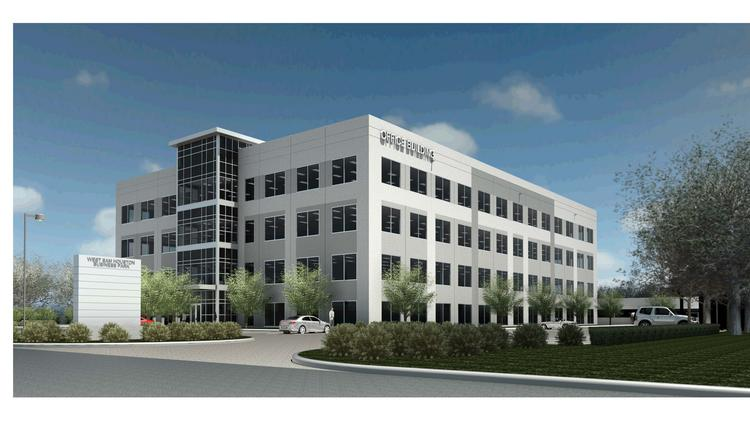 Rendering of the proposed D'Agostino Cos. development, The Offices at Sam Houston.