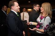 John Paul Jones of Millcraft Investments talks with Traci Yates of T Construction & Consulting Services.