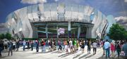 The Sacramento Kings shared renderings of the downtown arena. This is a view of the grand entrance.