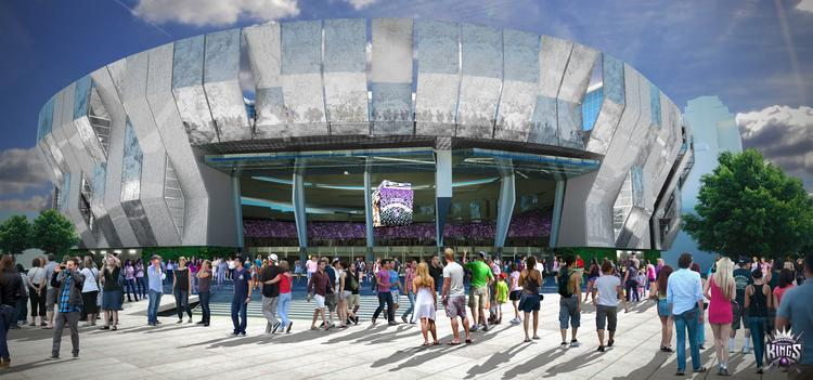 Talk of Sacramento's downtown arena dominated the State of Downtown event on Tuesday morning. Features include a five-story opening on the arena's exterior and an upper terrace with views of the Sacramento River.