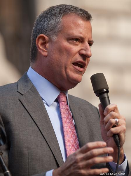 Mayor Bill de Blasio has said he thinks religious groups should have equal access to public schools' space as other nonprofits.