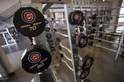 Weights in the new training center.