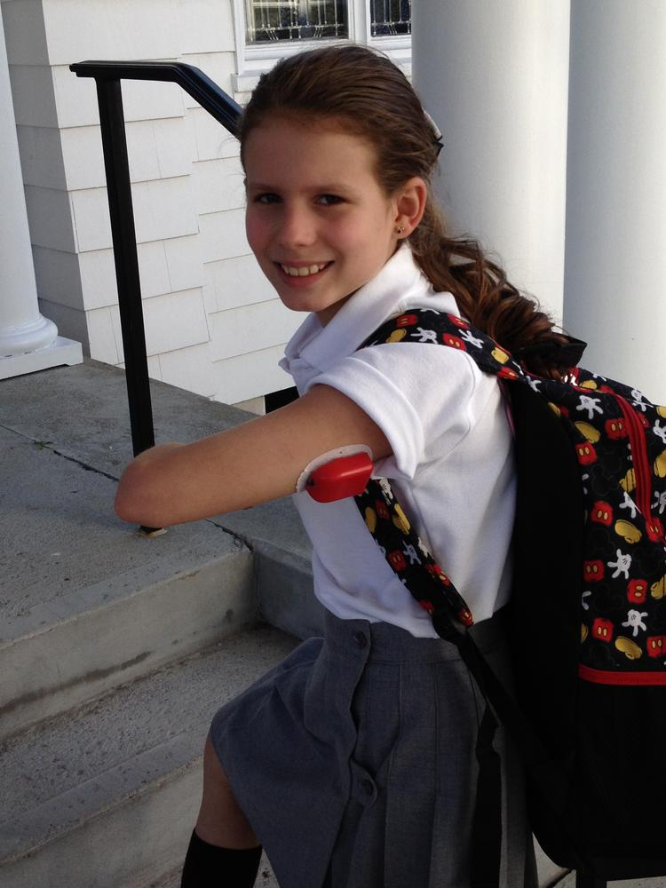 Katrina Elisabeth Diel, 10, of Rhode Island, launched Kedz Covers last year to sell colored plastic covers for the OmniPod Insulin pump, made by Bedford-based Insulet.