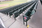 While the Cubs' previous spring home, Hohokam Stadium, had metal benches for many of the seats, only individual seats are offered in the new park.