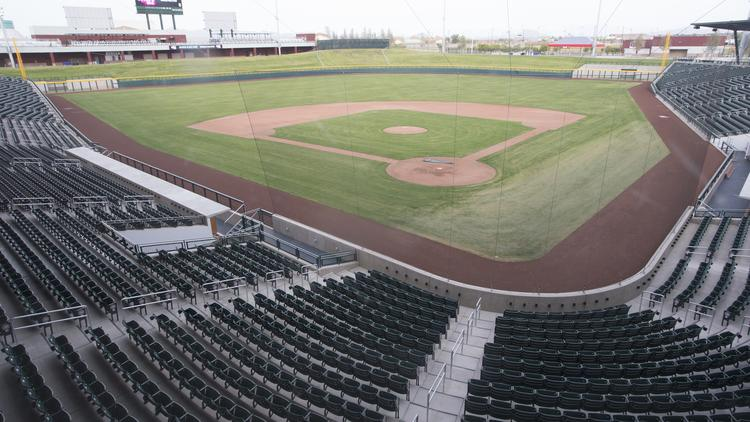 The Chicago Cubs are playing their first Spring Training season at the club's new facility in Mesa.