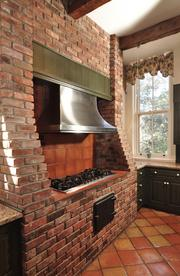 A viking stove in the kitchen.