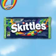 "Skittles is releasing a special ""Seattle Mix"" bag containing only the blue and green candies as a result of a promotional deal with Seahawks player Marshawn Lynch, who has an affinity for the candy."