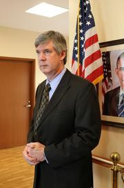Timothy Liezert, the medical center director, was also on hand for the tour.