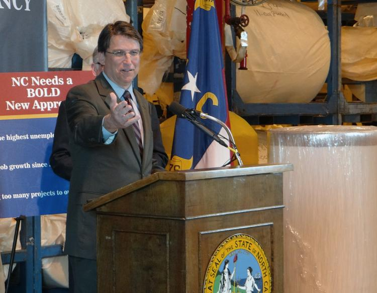 Gov. Pat McCrory told furniture industry leaders that cuts to the High Point Market that have since been restored were unintended.