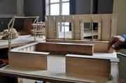 A model of the bar area.