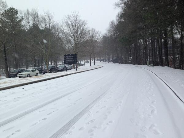 Officials are urging motorists to stay off roads Wednesday morning.