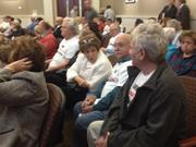 Supporters for the new Trader Joe's in Dr. Phillips filled the hall, after getting shuttled to the event by Unicorp National Developments Inc.