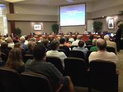Interested Dr. Phillips residents filled the audience at the Jan. 28 Orange County Commission meeting.