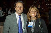 Michael Vallarelli and Karyn Polito at the CEO/VIP reception at the MFA's Koch Gallery during the Boston Business Journal's Book of Lists 2014 Gala.