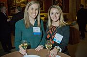 Elements' Kim DeRosa and Margaux Stunzi at the MFA's Koch Gallery during the Boston Business Journal's Book of Lists 2014 Gala.