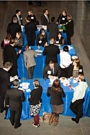 Boston's business elite socialize and network at the MFA during the Boston Business Journal's Book of Lists 2014 Gal