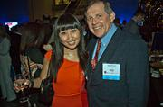 Nicole Xie of Omni Mount Washington Resort with James Kenney of Wolf & Company at the Boston Business Journal's Book of Lists 2014 Gala.