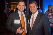 Derrick DeLuties of Lunchpail Productions and Joe DiLorenzo of Morgan Samuels at the Boston Business Journal's Book of Lists 2014 Gala.