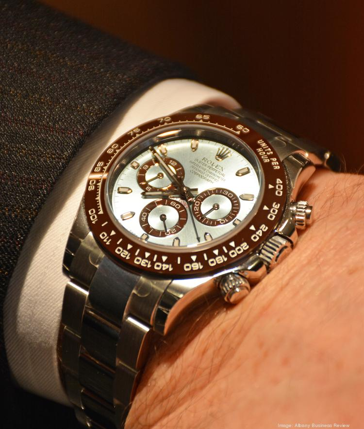 Among the newest additions at Frank Adams Jewelers: the $75,000 platinum Rolex Daytona Cosmograph. It's the 50th anniversary edition of a Rolex watch made famous by the actor Paul Newman.
