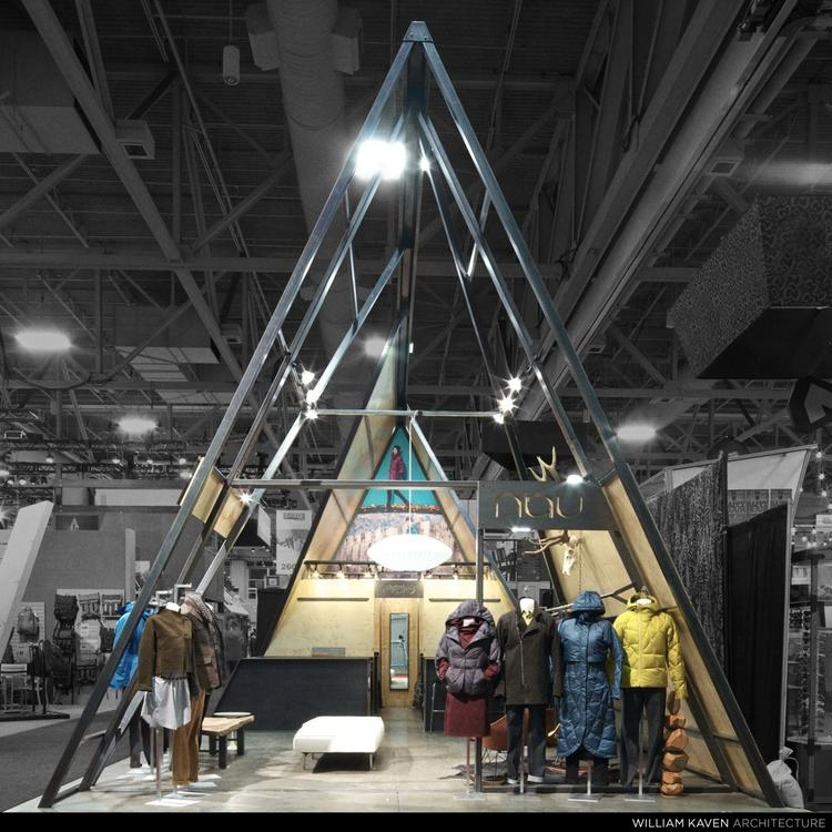 """Nau Inc.'s new trade show """"booth,"""" designed by Portland-based William Kaven Architecture."""