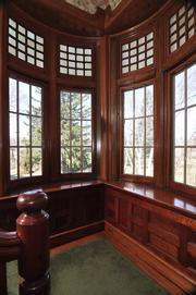 The second-floor hallway landing in the UAlbany president's mansion. Current president Robert Jones opted to buy a condo at 17 Chapel in downtown Albany, rather than live in the residence.