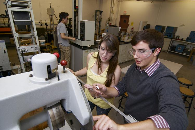 University of Minnesota students work in an existing materials science lab. A $1 million gift from Valspar will provide high-tech equipment for a new materials science and engineering lab.