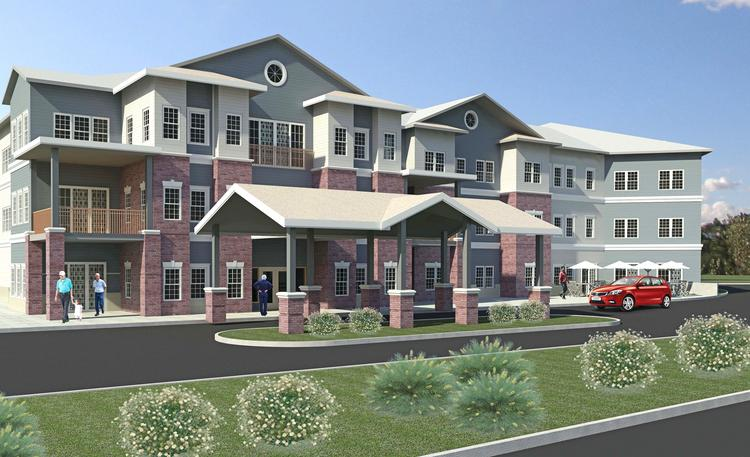 The assisted living/memory care facility proposed for Halfmoon, NY.