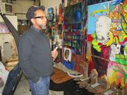 Artist James Dupree has used his fight with the city as inspiration for new work, including this mural.