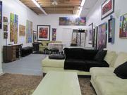 Part of artist James Dupree's 9,000-square-foot building has been converted to a guest apartment.