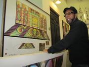 Artist James Dupree has worked with the Mummers to create costumes and stage sets.