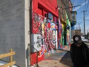Artist James Dupree said he had to replace the wall on the west side of Dupree Studios after the building next door was torn down by the city.