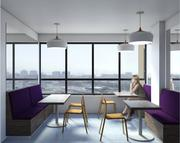 The building will have lounges like this on each floor