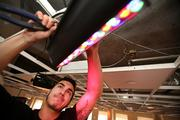 Giovanni Piazza with MMD Events installing lights.