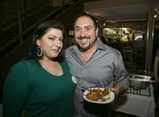 Maria Salvo and Sal Safina, owner of Tutto