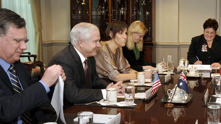 A 2008 photo of former Deputy Assistant Secretary of Defense James Clad (far left). Now an energy policy adviser to several organizations, Clad discussed the role the Eagle Ford Shale is having on U.S. energy independence.