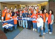 "RMH Group Inc., Lakewood, www.rmhgroup.com -- ""It's Orange Fever at the RMH Group, a Lakewood-based mechanical and electrical engineering firm.  We are having a week-long celebration to show our support for the Denver Broncos, the AFC Champions and soon-to-be Super Bowl Champions.  Our celebration includes office decorations, 'United in Orange' days where employees are encouraged to wear their Bronco gear, and an office-wide Super Bowl party snack contest. The lobby was decorated in Bronco orange-and-blue from receptionist Virginia Walker's personal memorabilia collection that has been compiled over 37 years as a Broncos fan."" -- Jill Anderson, Marketing Assistant"