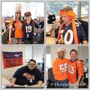 "HomeAdvisor, www.homeadvisor.com -- ""To celebrate the Broncos heading to the Super Bowl, HomeAdvisor's HR and Events and Culture teams are throwing a Super Potluck on Friday. We will be decorating our offices in Broncos colors and gear, encouraging employees to wear their Broncos gear and giving away AFC prizes to individuals and teams who go above and beyond in showing their Broncos pride.""  -- Lauren Hogan, Digital Manager"